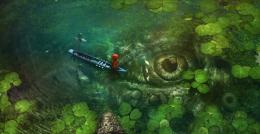 Crocodile Eye Water Girl Fishing HD WallpaperStylish HD Wallpapers 756