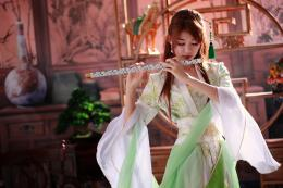 flute music girl free backgrounds desktop wallpapers 359
