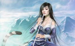 1920x1200 Fantasy girlFlute 2 desktop PC and Mac wallpaper 169
