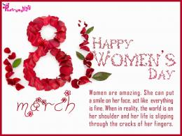 Happy International Women\'s Day Wishes and Greetings Message SMS Card 740