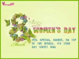 Happy International Women\'s Day Wishes and Greetings Message Card 136