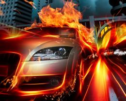 hot girl on fire Car Pictures 497
