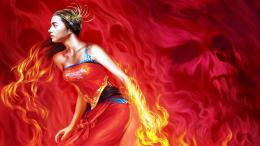sexy girl on fire facebook timeline cover,1600x900,64836 jpg 890