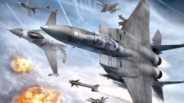 ACE COMBAT game jet airplane aircraft fighter plane military battle h 1791
