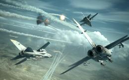 ACE COMBAT game jet airplane aircraft fighter plane military battle 1073