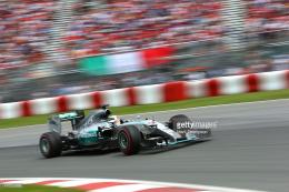 Britain and Mercedes GP drives during the Canadian Formula One Grand 153