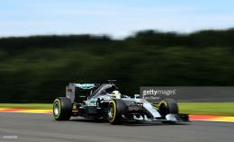 of Great Britain and Mercedes GP drives during the Formula One Grand 1730