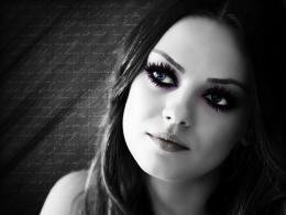 1600x1200 women black and white mila kunis portrait artwork selective 776