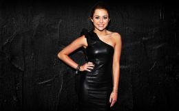 Miley Cyrus Black Dress 1920x1200 Wallpapers, 1920x1200 Wallpapers 1879