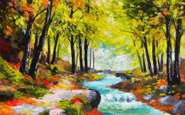 forest painting widescreen wallpaper 11492 11926 hd wallpapers jpg 1739