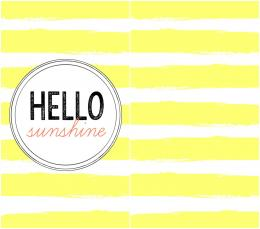 Hello Sunshine Phone Wallpaper 1100