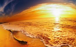 Picture Of Sunset During Summer On A Beach 1704