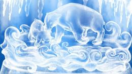 Download Polar bear ice sculpture 1920x1080 Wallpaper 1603