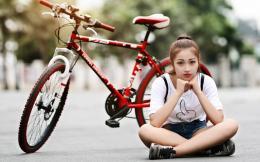 Pretty Girl With Bicycle Photo HD WallpaperSearch more Pretty Girls 320