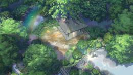 Wallpapers :: clouds, rain, garden, lens flare, ponds, Makoto Shinkai 1336