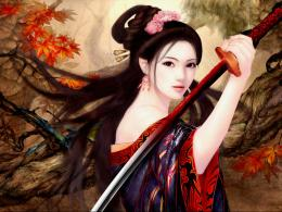 Wallpaper samurai girl 1570