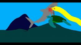 Green Sea Turtle Vs Moray Eel Vs Mako SharkYouTube 846