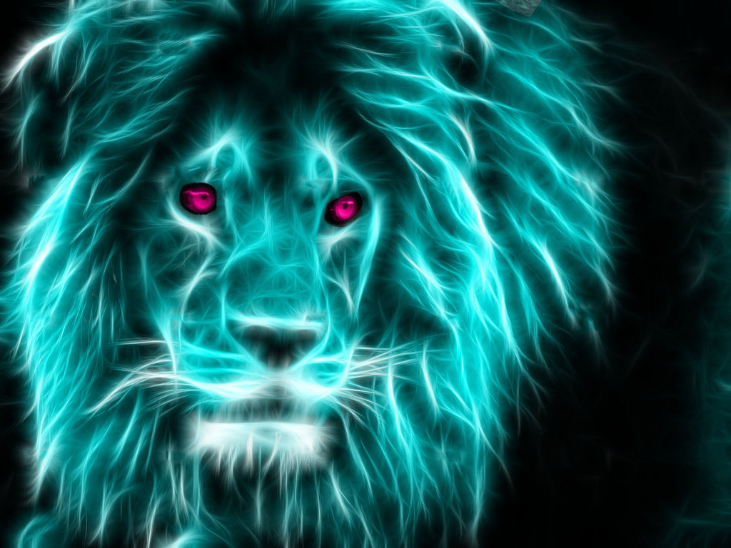 7 neon lion by theferraci on deviantart 1039 stunning. Black Bedroom Furniture Sets. Home Design Ideas