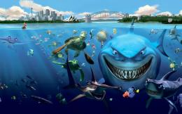 Underwater Fish Sharks Turtles Cartoon Freehdwalls Desktop Wallpaper 559