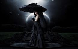 umbrella mood emotion sad sorrow gown gothic women females girls 687