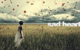 WomenMood Woman Sad Leaf Grass Wallpaper 859