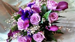Womens Day Purple roses bouquet to women on March 8 055859jpg 980