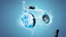 Headphones blue music 3D art wallpaper | 1920x1080 | 289677 1843