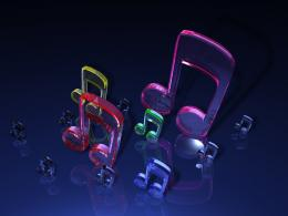 3D Glass Music Notes Wallpaperhttp:fc08 deviantart net fs34 f 1798