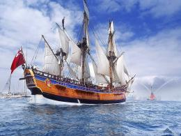 Download full size Under sail GB Frigates & Sailing ships Wallpaper 481