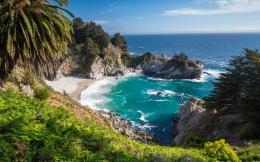 California United States Big Sur McWay Falls Wallpaper 2560x1600 1933