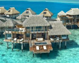 Hilton Bora Bora Hotel Water Bungalow Hd Wallpaper | Wallpaper List 1145
