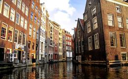 Amsterdam Canal in Venice Wallpaper 391