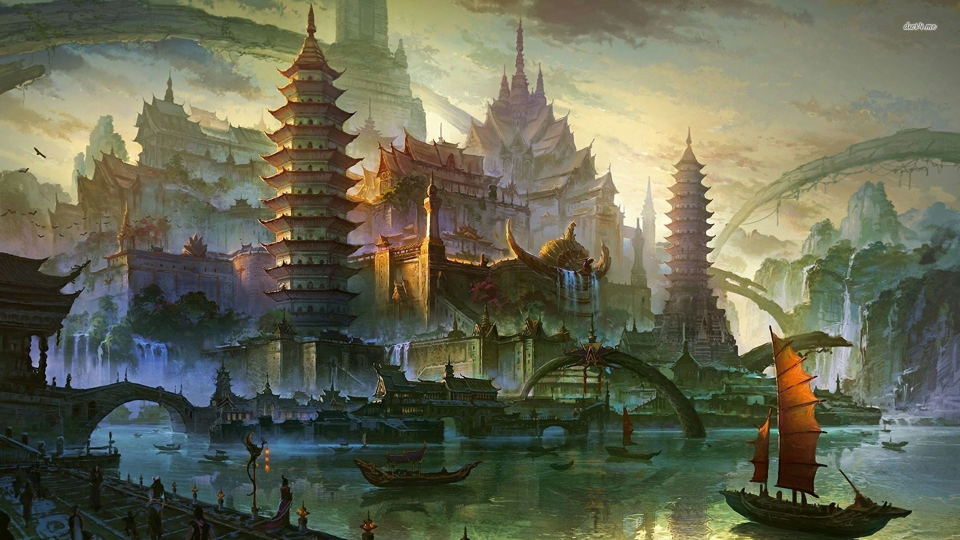 4 Ancient Chinese marina wallpaperFantasy wallpapers#17024 ...