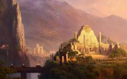 Ancient temples in the mountain valley wallpaper292182 559