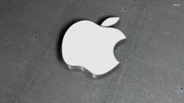 Steel Apple logo wallpaperComputer wallpapers#12256 1190