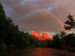 Rainbow over Cathedral Rock in Sedona, Arizona 1526
