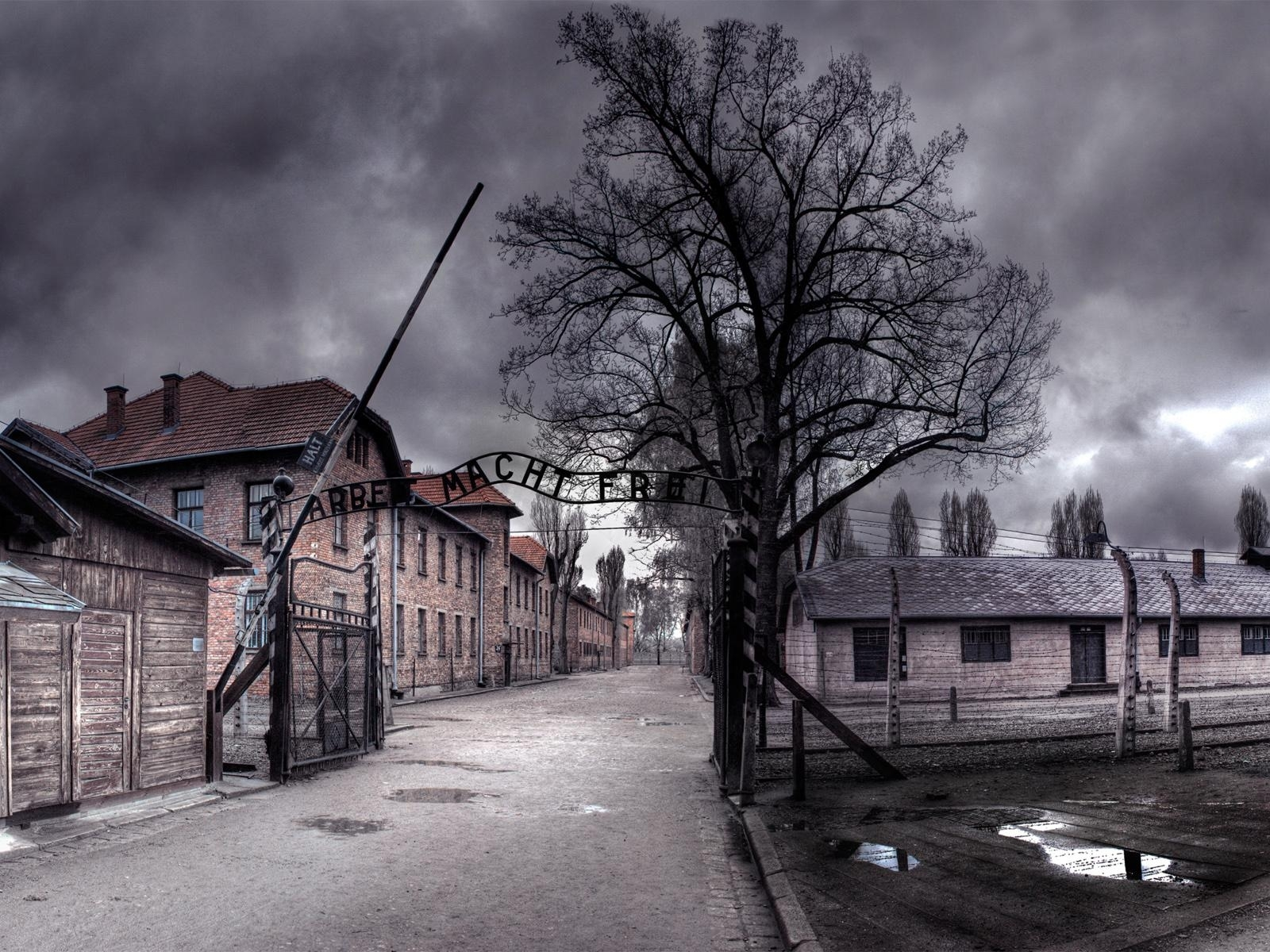 Auschwitz concentration camp in mean skies wallpaper 1622