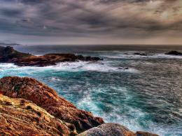 Mean Skies Over The Shore Hd Wallpaper | Wallpaper List 229