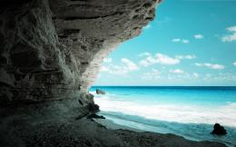 Download Awesome seaview from cave wallpaper in Nature wallpapers with 986