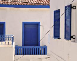 Balcony in Santorini wallpaper 569