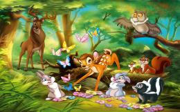 Cartoons Wallpapers Bambi Playing With Friends 1440x900 Wallpaper 1245