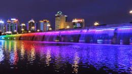 Banpo Bridge Rainbow Fountain 1090