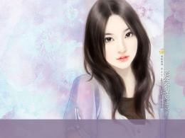 FunzFunz: Cute Asian Girl I Chinese Style Painting I 437
