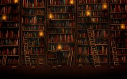 Tall bookshelves wallpaper #4672 1211