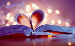 Beautiful Love Heart On The Book Wallpaper HD Wallpaper with 1680x1050 1638