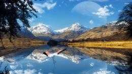 Moon Reflection In A Lake Hd Wallpaper | Wallpaper List 1200