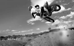 Dirt Bikes black and white wallpapers 289