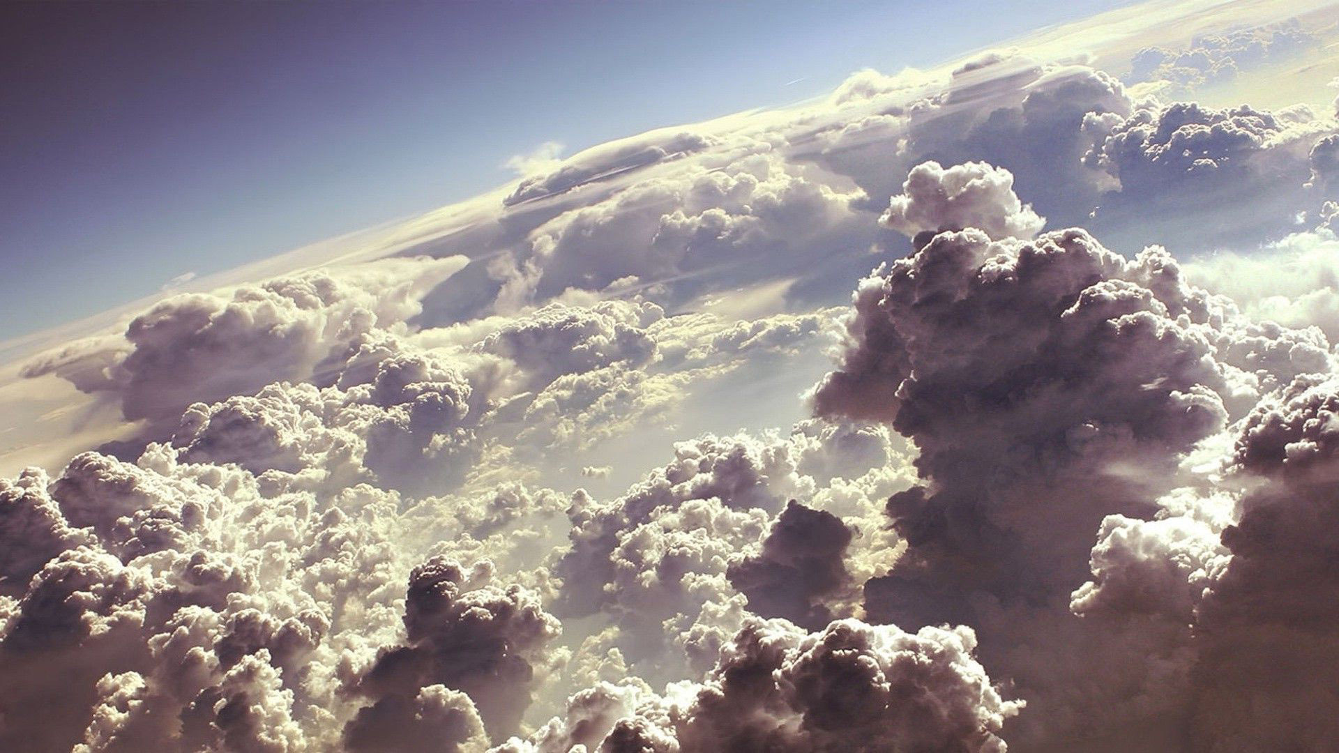 Fluffy white clouds Wallpaper #2487 1253