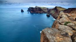rugged seacoast on madeira portugal wallpaper in nature wallpapers 706
