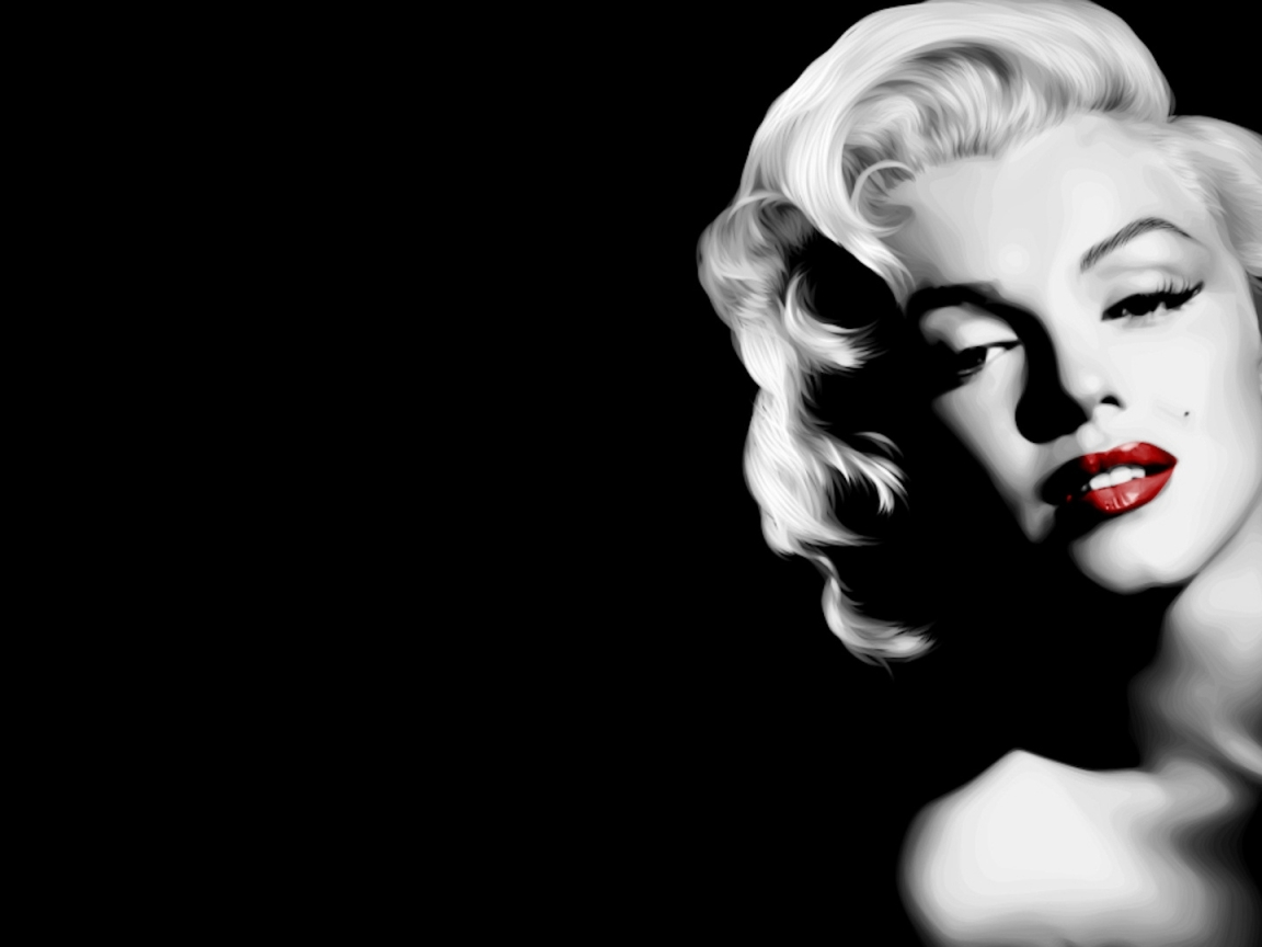 black and white red lip wallpaper in Celebrities wallpapers with all 659